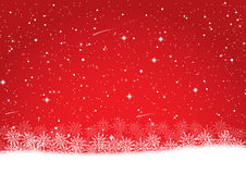 Snowflake on red christmas background. Rgb mode Royalty Free Stock Photography