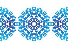 snowflake Reticolo di natale Ornamento circolare Pizzo decorativo royalty illustrazione gratis