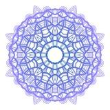 snowflake Reticolo di natale Ornamento circolare Pizzo decorativo Vettore royalty illustrazione gratis