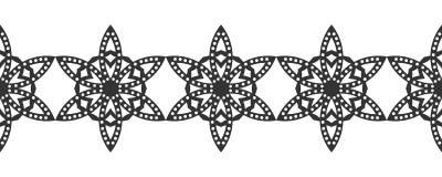 snowflake Reticolo senza giunte di natale Ornamento circolare e pizzo decorativo illustrazione vettoriale