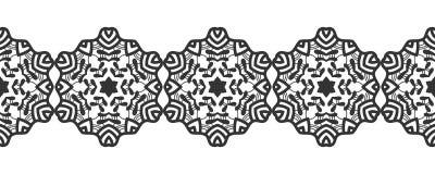 snowflake Reticolo senza giunte di natale Ornamento circolare e pizzo decorativo royalty illustrazione gratis