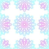 snowflake Reticolo senza giunte di natale Ornamento circolare, pizzo decorativo royalty illustrazione gratis