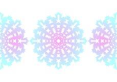 snowflake Reticolo senza giunte di natale Ornamento circolare Pizzo decorativo Illustrazione di vettore illustrazione vettoriale