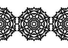 snowflake Reticolo senza giunte di natale Ornamento circolare, pizzo decorativo Illustrazione di vettore illustrazione vettoriale