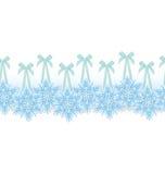 Snowflake on ribbon border vector Stock Images