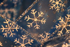 Snowflake Ribbon Closeup Royalty Free Stock Photos