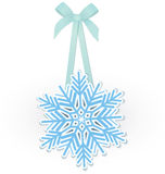 Snowflake on ribbon vector Stock Image
