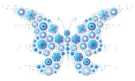 Snowflake`s butterfly Stock Photo