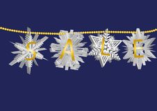 Snowflake sale 1 Royalty Free Stock Images