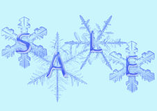 Snowflake with  sale Stock Photo