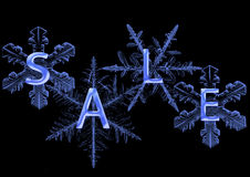 Snowflake with  sale Royalty Free Stock Photo