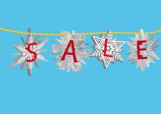 Snowflake sale 3 Stock Photo