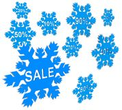Snowflake sale Stock Images