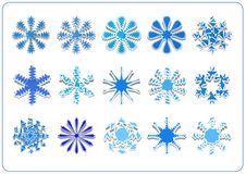 Snowflake scrapbook Stock Images