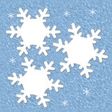 Snowflake scrapbook page Stock Photography