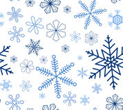 Snowflake seamless background Stock Photo