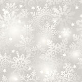 Snowflake seamless background. Royalty Free Stock Photography
