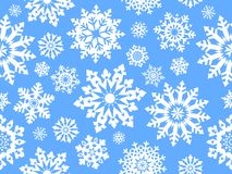 Snowflake seamless pattern. Stock Photo