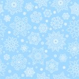 Snowflake seamless pattern. Royalty Free Stock Photo