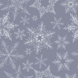 Snowflake Seamless Pattern Stock Images