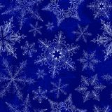 Snowflake Seamless Pattern stock photos