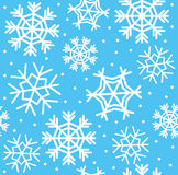 Snowflake seamless pattern Royalty Free Stock Images