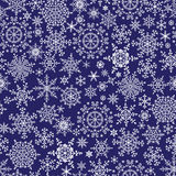 Snowflake seamless pattern, background.Winter Stock Image