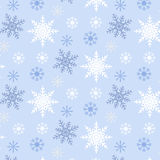 Snowflake seamless pattern blue background Royalty Free Stock Image