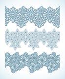 Snowflake Seamless Pattern Border Royalty Free Stock Images
