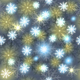 Snowflake seamless pattern. Holiday illustration Stock Images