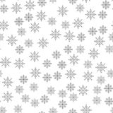 Snowflake seamless pattern Light Christmas background Vector illustration The theme of winter, new year, holiday Stock Image