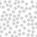 Snowflake seamless pattern Light Christmas background Vector illustration The theme of winter, new year, holiday Royalty Free Stock Images