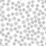 Snowflake seamless pattern Light Christmas background Vector illustration The theme of winter, new year, holiday Royalty Free Stock Image