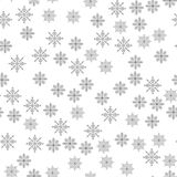 Snowflake seamless pattern Light Christmas background Vector illustration The theme of winter, new year, holiday Stock Photo