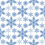 Snowflake seamless pattern Merry Christmas and Happy New Year winter holiday background decorative paper vector. Illustration. Festive textile xmas abstract Royalty Free Stock Photography