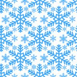 Snowflake seamless pattern Merry Christmas and Happy New Year winter holiday background decorative paper vector. Illustration. Festive textile xmas abstract Stock Photography