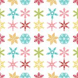 Snowflake seamless pattern Merry Christmas and Happy New Year winter holiday background decorative paper vector. Illustration. Festive textile xmas abstract Royalty Free Stock Images