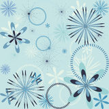 Snowflake seamless pattern Royalty Free Stock Photography
