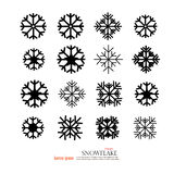 snowflake Segno della neve Icone del fiocco di neve Fotografia Stock Libera da Diritti