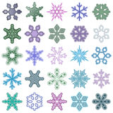Snowflake Set Stock Photography