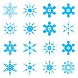 Snowflake set Royalty Free Stock Photography