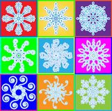 Snowflake set Stock Photo