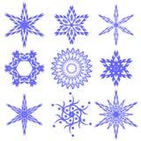 Snowflake Set royalty free stock photo