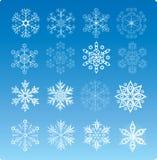 Snowflake Set Stock Photos