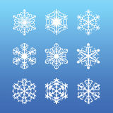 Snowflake set Royalty Free Stock Image