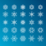Snowflake Set. Christmas and new year concept Royalty Free Stock Images