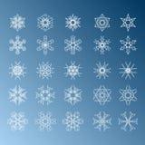 Snowflake Set. Christmas and new year concept Stock Image