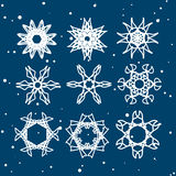 Snowflake Set. Christmas and new year concept Royalty Free Stock Photo