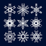 Snowflake Set. Christmas and new year concept Stock Photos