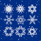 Snowflake Set. Christmas and new year concept Royalty Free Stock Photos